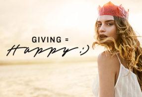 Giving = happy :-)
